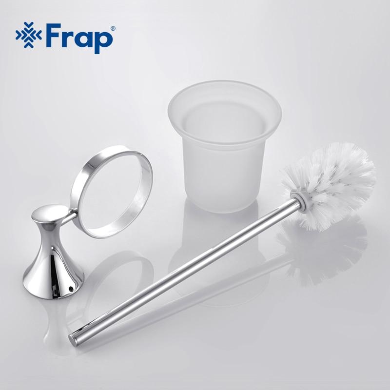 Frap 1 Set Modern Toilet Toilet Brush Holder Zinc Alloy Mounting Seat Glass Cups Bathroom Hardware Fitting F3510