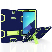 Fashion Armor 3 in 1 Shockproof full protection Plastic w kickstand Case cover for Samsung Galaxy Tab S3 9.7 T820 T825 SM-T820 цена и фото