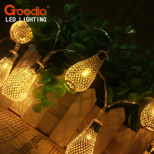 3.5M Rain Drops Design LED String Light  Home Decorative Wedding Garland Lamp/luminarias/chandelier baterry aa  Fairy lamp