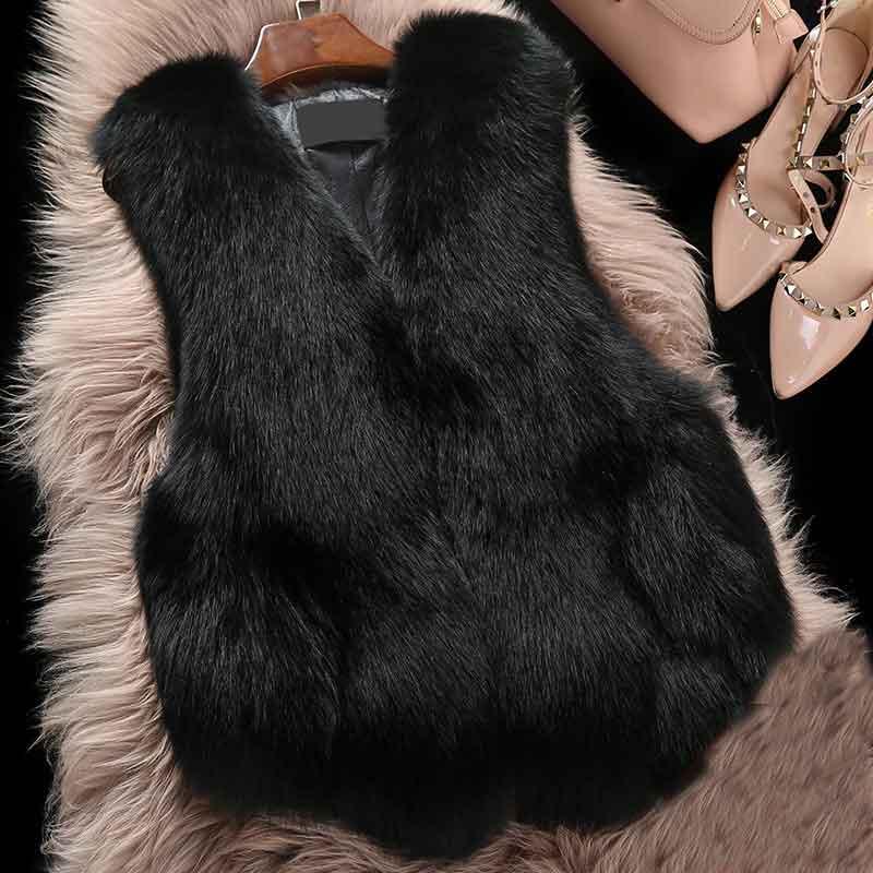 Mode Laveur Gilet De Raton Col Femelle Noir Femme V 2018 Sans Fourrure Loisirs Manche Court Nouvelle Mince qwzxXYwR