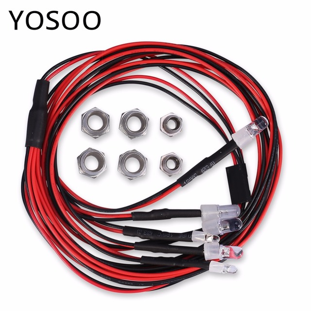 6 LEDs Lights 3 7V RC Car Light Set Headlight Taillight For 1/10 RC ...