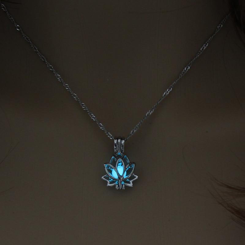 Dark Moon Lotus Flower Shaped Pendant Necklace Jewelry Necklaces Women Jewelry