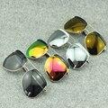 Designr Piloto Gafas de Sol de Espejo Polarizado gafas de sol de gran tamaño Mujeres de Los Hombres de la Marca 2016 Estilo Vintage Revestimiento Irregular Gran Marco Gafas de Sol