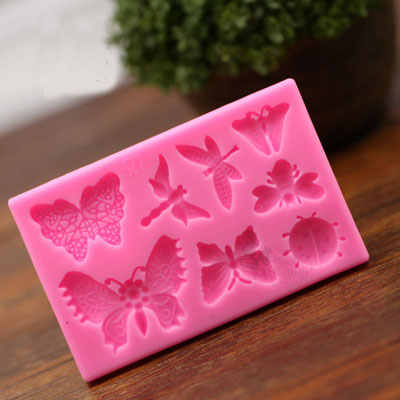 Butterfly Dragonfly Animal Shape Silicone Cake Mold ,Bakeware Mould For Chocolate Cookie Clay  Fondant Cake Decorating Tools