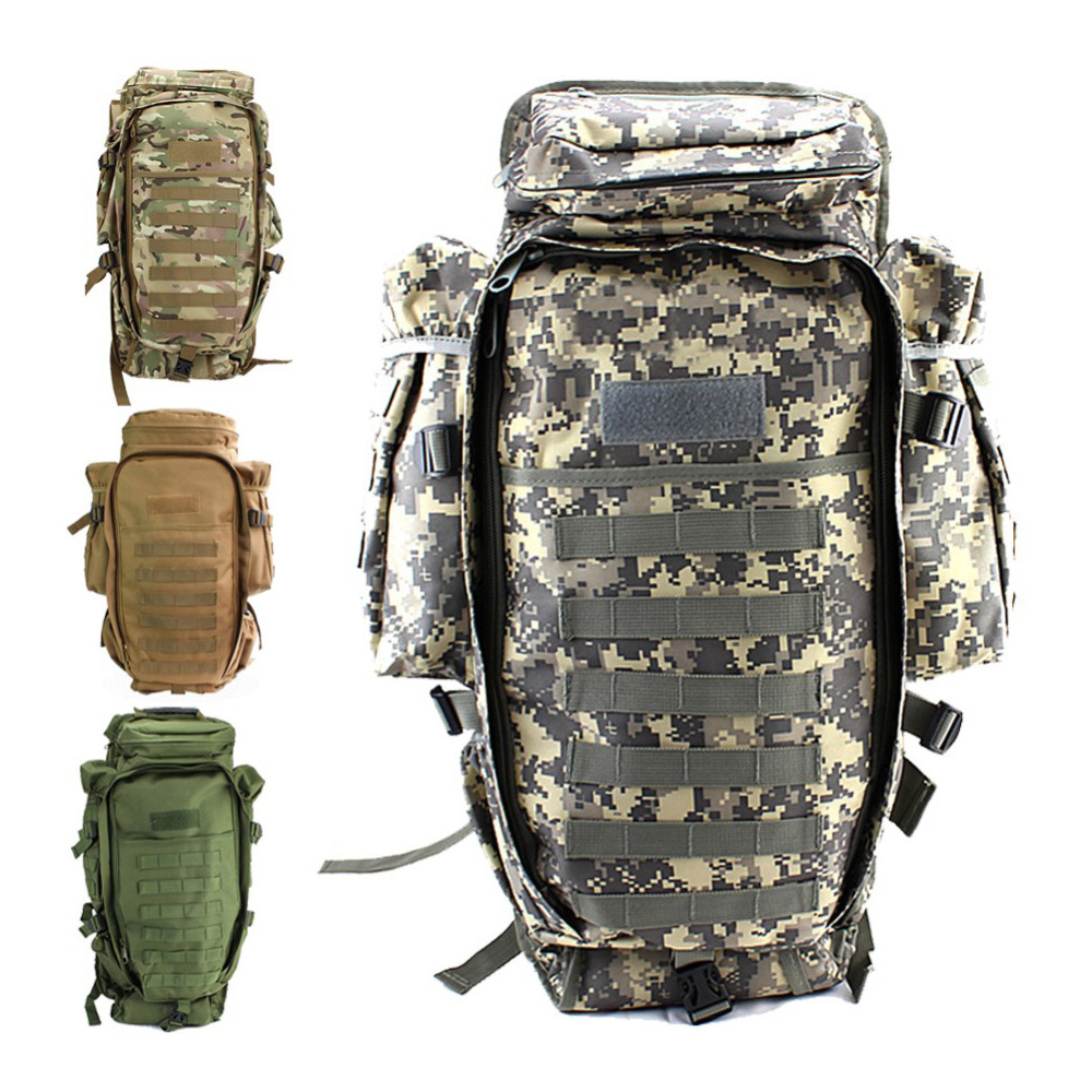 ef2263fe6c7a 100% Top Quality Outdoor Travel Back pack Military Tactical Molle Hiking  Hunting Camping Rifle Backpack Bag Climbing Bags-in Climbing Bags from  Sports ...