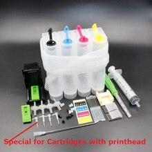 XIMO DIY СНПЧ для 4 цветных принтеров, с изгибом чернильной трубки, иглой, сверлом и всасывающим инструментом и всеми аксессуарами