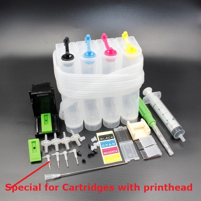 XIMO DIY CISS for 4 color printers, with ink tube bend,needle, drill and Suction tool and all accessories(China)