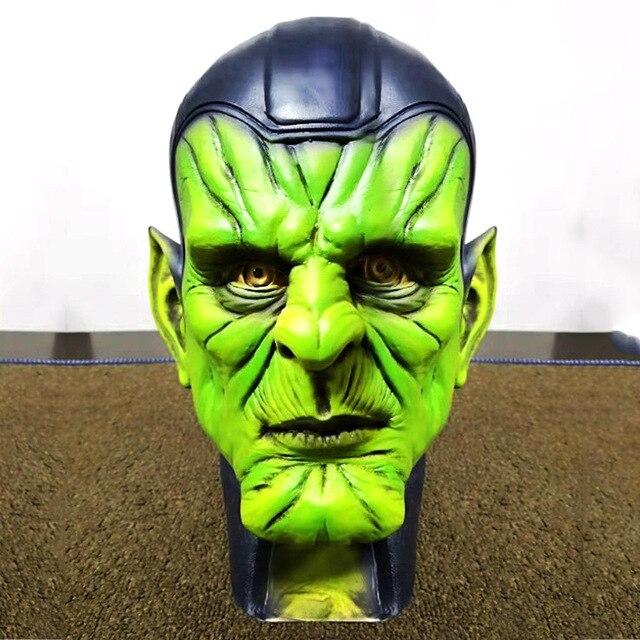 Superhero Halloween Cosplay Prop Máscara para Kid & Adulto Capitão Vingadores Marvel Skrull Endgame Carol Danvers Masque Látex