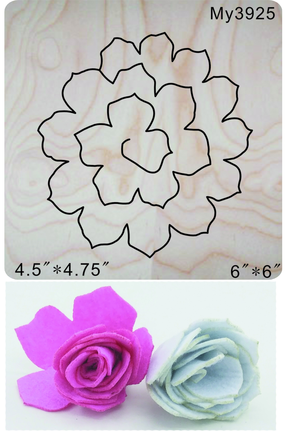 Flower DIY Wooden dies fit Scrabooking muyu