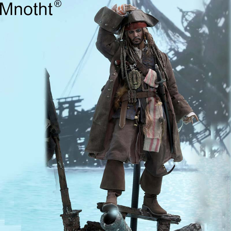Mnotht 1/6 DX15 Pirates of The Caribbean Dead Men Tell No Tales/Salazar's Revenge Action Figure Captain Jack Sparrow Toy Set m3n pirates of the caribbean cosplay captain jack sparrow shoes men s superhero pirate deep brown boot custom made