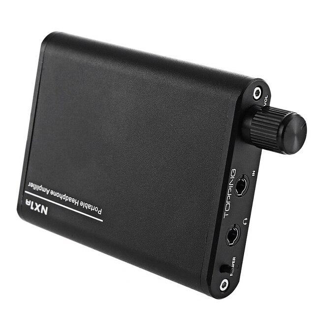 Усилители Topping NX1A Портативный Мини Стерео Усилитель Для Наушников 3.5 мм Hifi USB Перезаряжаемые Использования 150 Часов Наушники AMP Черный
