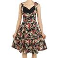 Oxiuly 2016 Pin Up Vestidos Женщины Dress Ретро Vintage 1950 s 60 s Рокабилли Цветочные Свинг Летние Платья Элегантный Мундир Vestidos