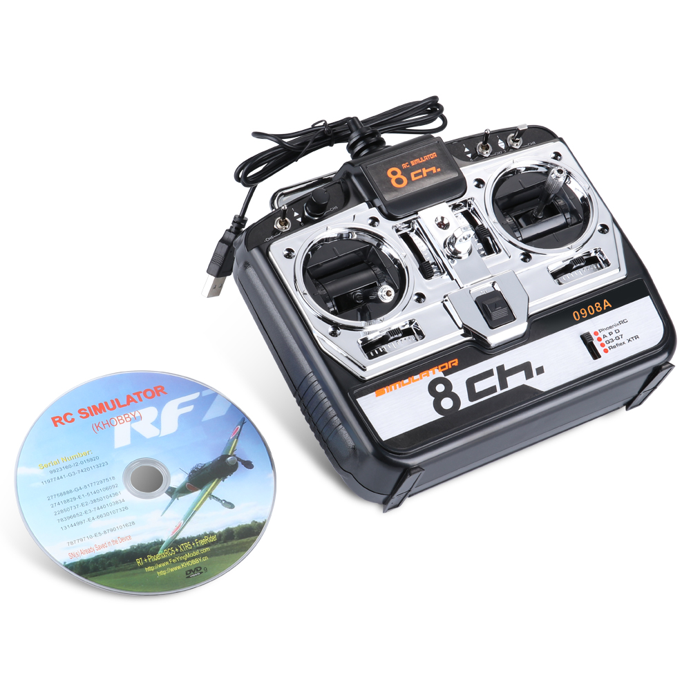 0908A 8CH RC Flight Simulator Support Realflight G7 Phoenix 5 0 XTR Remote Control Helicopter Fixed