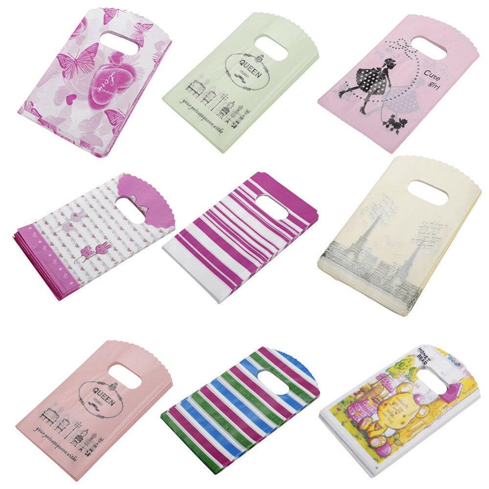 Gift-Bags Plastic Wholesale for 9x15cm-Pattern 50pcs/Lot Mini