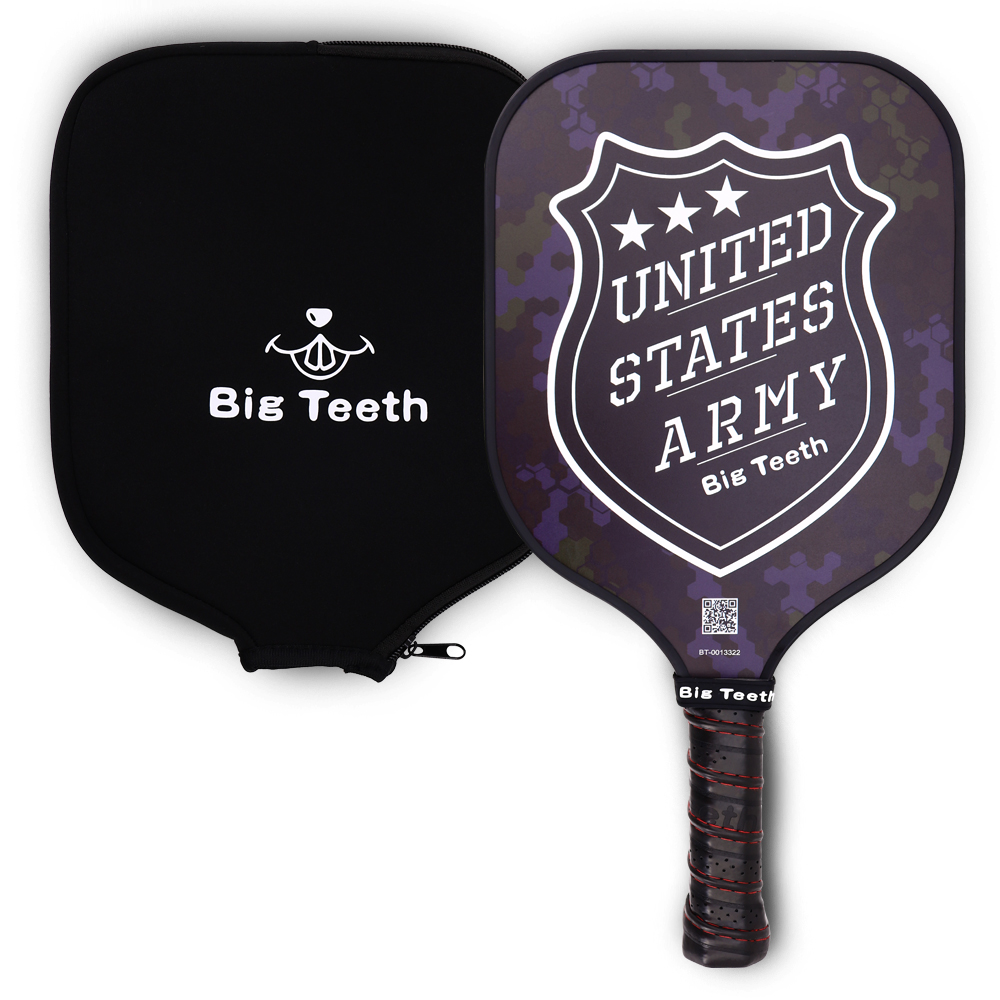 Pickleball Paddle Big Teeth Graphite Pickleball Paddle Lightweight Honeycomb Core Rackets