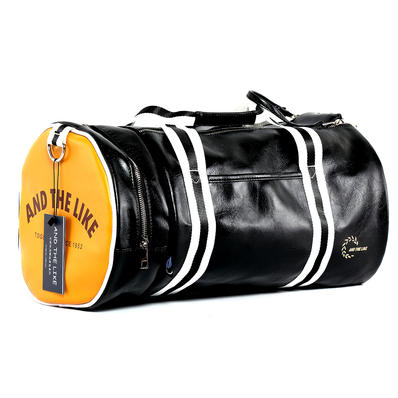PU Barrel Unisex Gym Bag Фитнес жаттығу тәуелсіз - Спорттық сөмкелер - фото 3