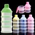 Портативный Младенческой Кормления Сухое молоко и Пищевые Бутылки Контейнер 3 Ячеек Сетки Практические Окно