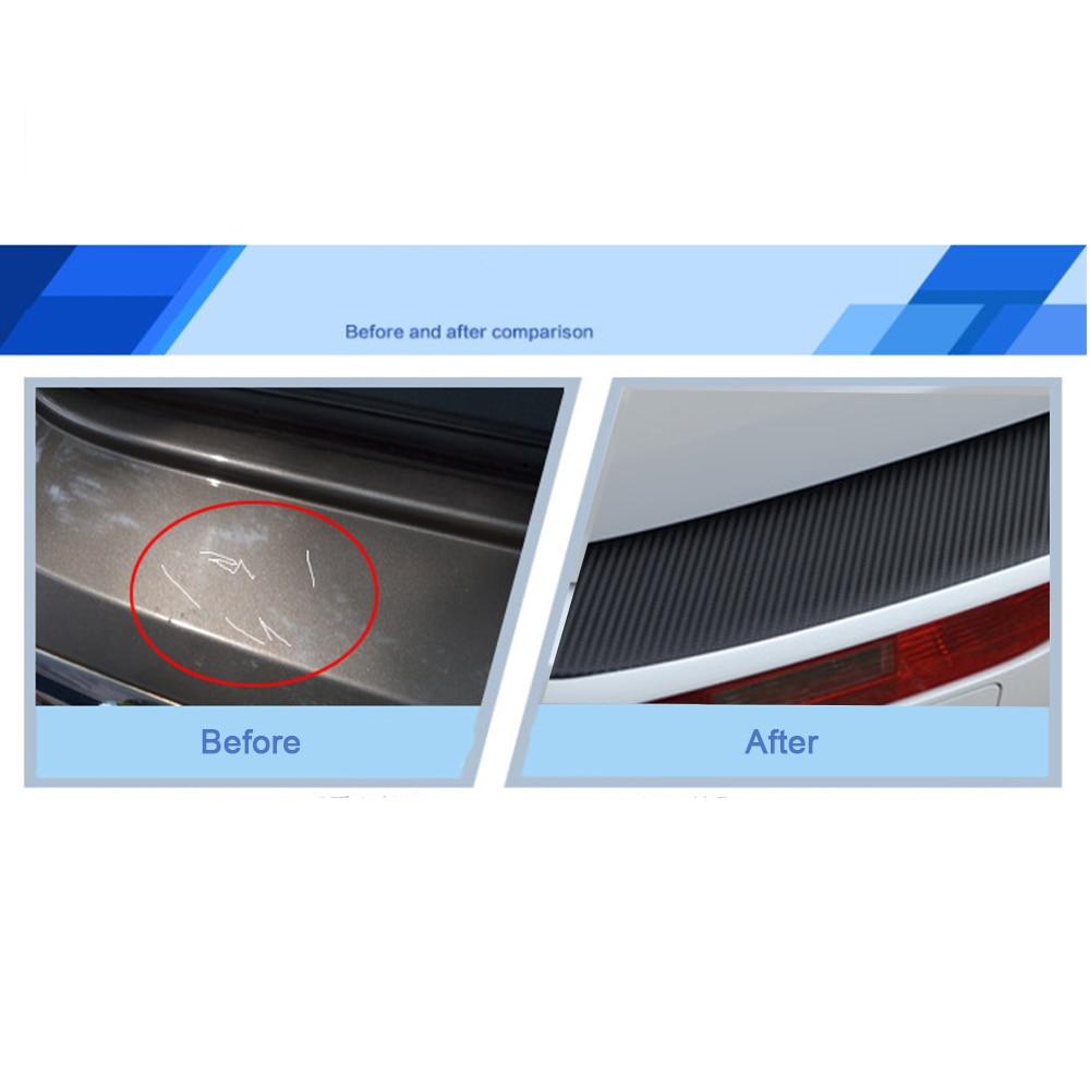 Автомобиля заднего бампера подоконник протектор плиты волокна углерода стикера автомобиля стайлинг Тойота Виос Приус Королла Левин-бывший Ярис Л