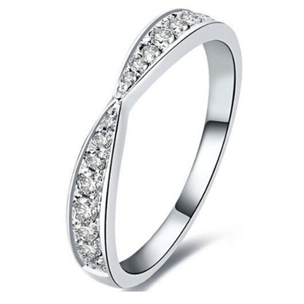 Special Real 925 Silver Band Ring Semi Mount Micro Pave SONA Simulate Diamond Band Sterling Silver