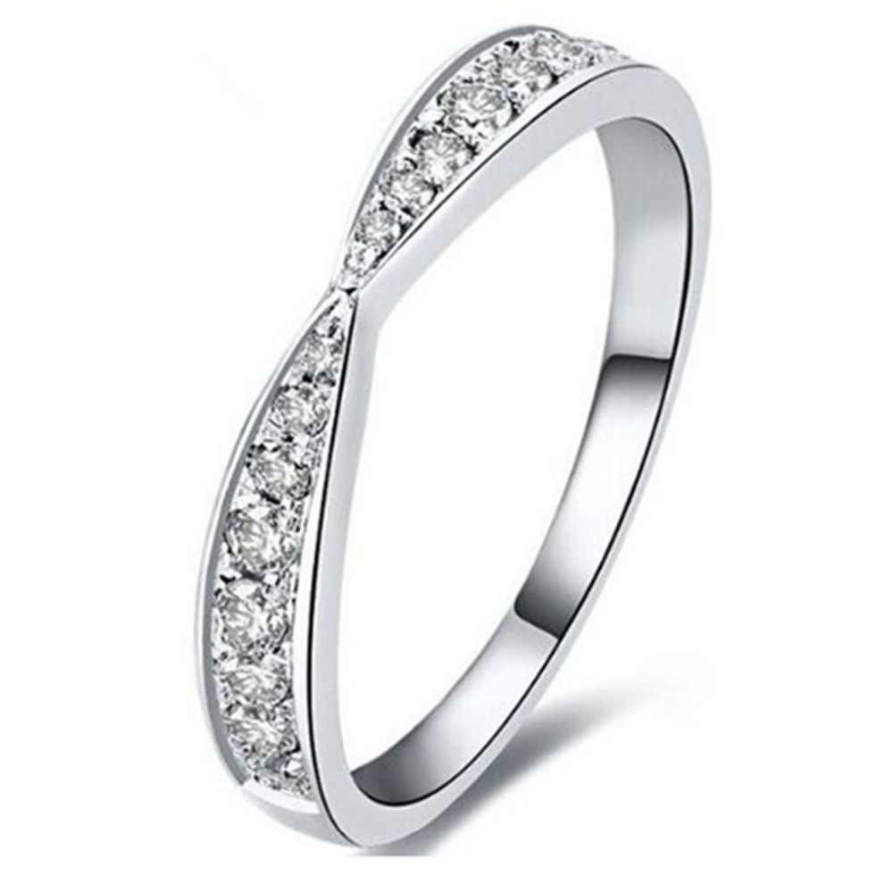 Special Real 925 Silver Band Ring Semi Mount Micro Pave SONA Simulate Diamond Band Sterling Silver Jewelry Big Size Ring Custom