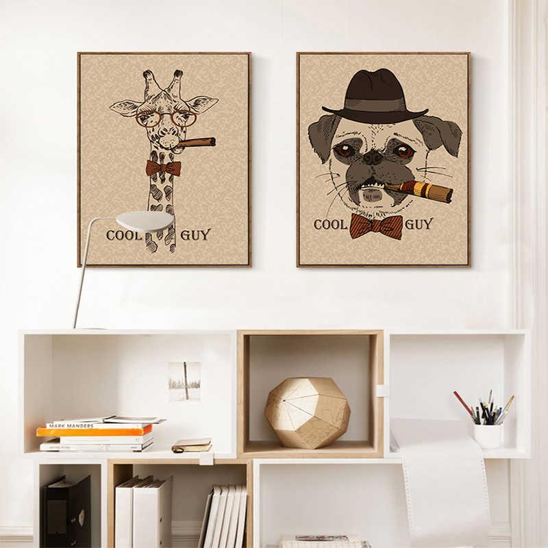 NEWBILITY, современная мода, животные, лица, плакат, печать, большой винтажный настенный художественный Рисунок, noic, креативный домашний декор, кафе, холст, живопись