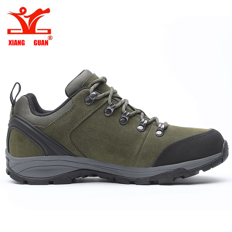 XIANGGUAN Hiking Boots Outdoor Cow Leather Sneakers male Genuine Leather Climbing Shoes  Trekking Men Shoes  ID 96567 gomnear winter men s hiking boots outdoor climbing toutism hunting athletic boot trend trekking warm velvet sport shoes for male