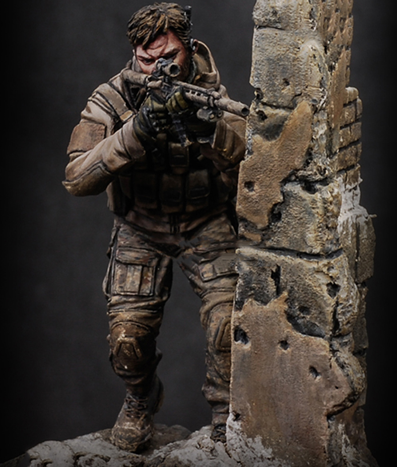 Able 1/24 Scale 75mm Unpainted Resin Figure Modern U.s Special Forces With Base To Make One Feel At Ease And Energetic