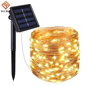 Image 4 - พลังงานแสงอาทิตย์กลางแจ้ง33Ft 100 LED 10MทองแดงลวดLight String Warm Whiteสีขาวที่มีสีสันกันน้ำปลอดภัยFairy xmas Party