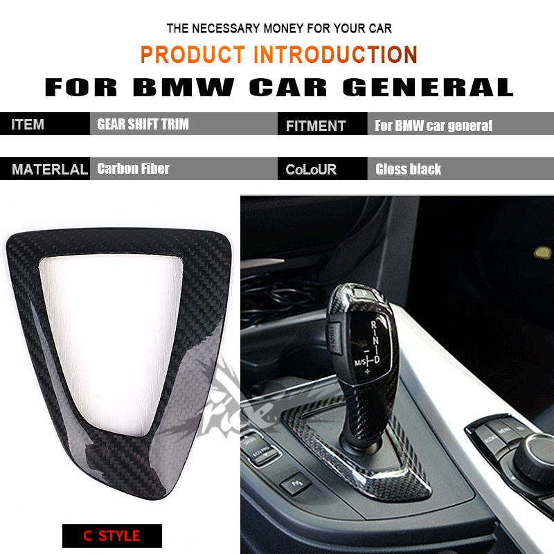 For BMW E63 E64 F06 F12 F13 640i 650i Left hand drive Carbon Fiber car general Surround Cover interior trim Decorations C Style in Gear Shift Knob from Automobiles Motorcycles