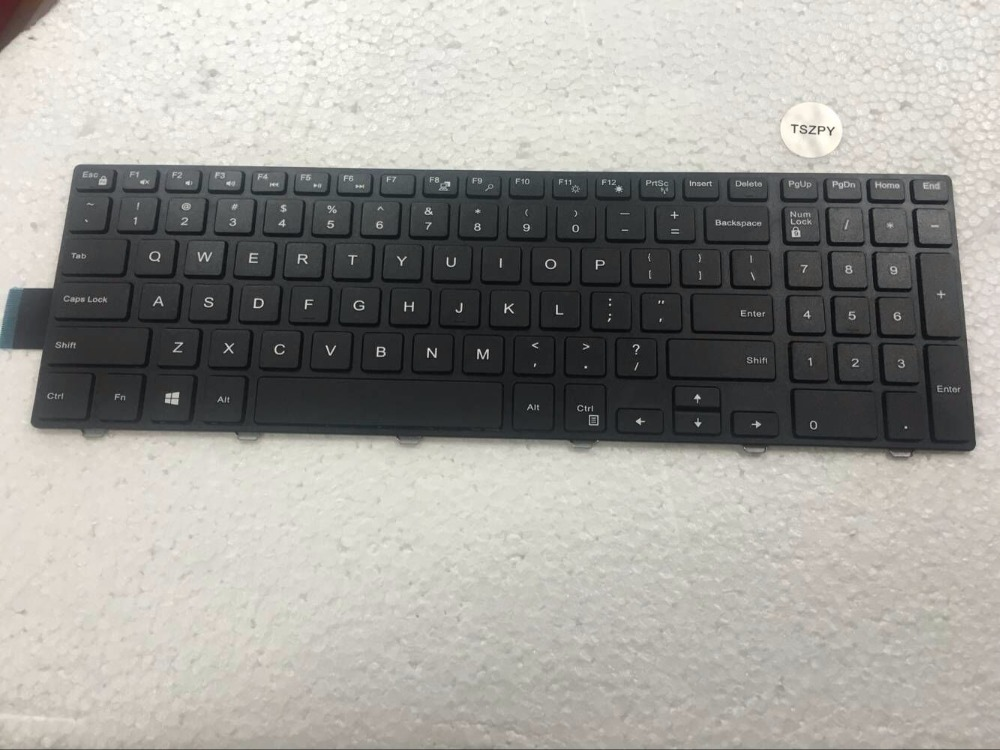 Free Shipping NEW English Keyboard For Dell inspiron 15 3000 Series 3541 3542 Laptop English Keyboard dell inspiron 3542 4019