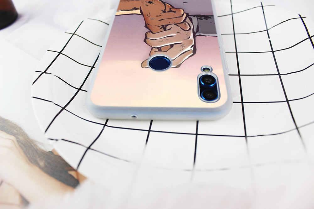 Hokage Naruto Kakashi Japanischen anime Weiche Fall Abdeckung Für Huawei Ehre 9 10 Lite 6X 7X 8X Max Telefon fällen 7A 8A 8C V20 SPIELEN 10i