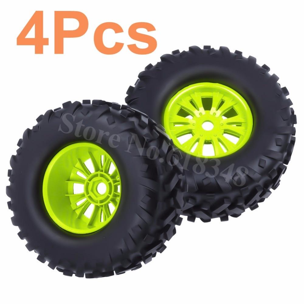 4x RC 170x85mm 17mm Hex Tires Wheel Rims for 1/8 Off Road Monster Truck Bigfoot Tyre HPI TRAXXAS Himoto HSP Hobao Baja 5B