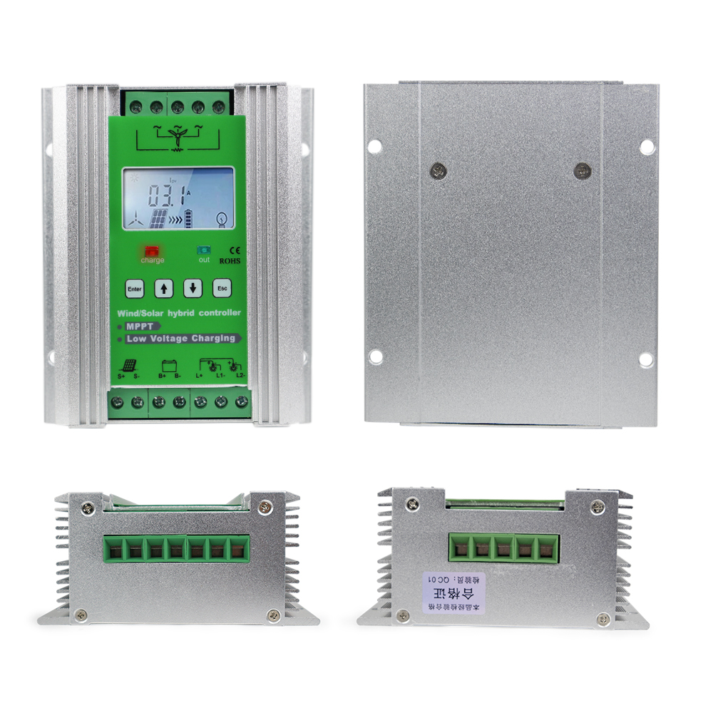 1400W MPPT Wind Solar Hybrid Booster Charge Controller Ideal for Street Light System