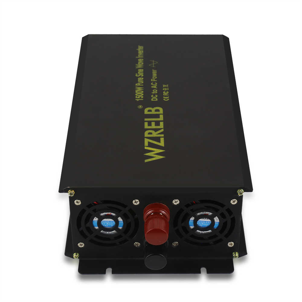 Güneş güç inverteri 1500 W 12 V 220 V Saf Sinüs Dalgası Invertör Jeneratör Trafo 24 V 48 V DC 110 V 120 V 230 V AC Uzaktan Kumanda