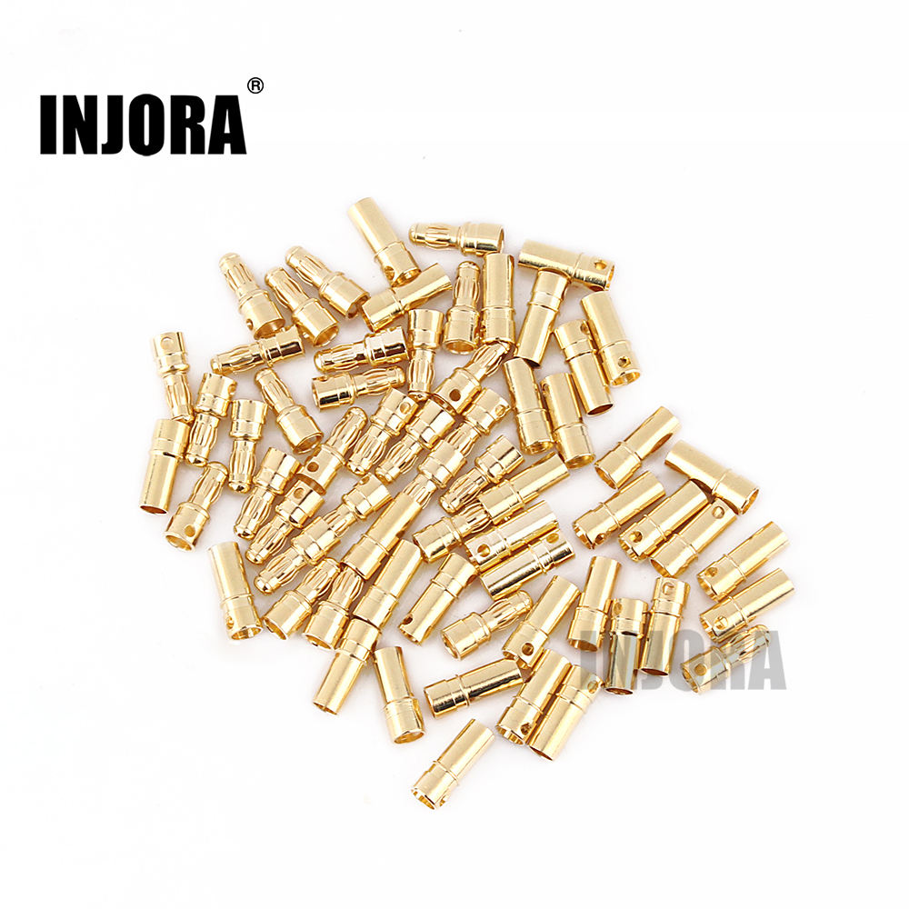 INJORA 10Pairs 3.5mm Gold Plated Male Female Banana Connector Plug for RC Model Motor ESC BatteryINJORA 10Pairs 3.5mm Gold Plated Male Female Banana Connector Plug for RC Model Motor ESC Battery