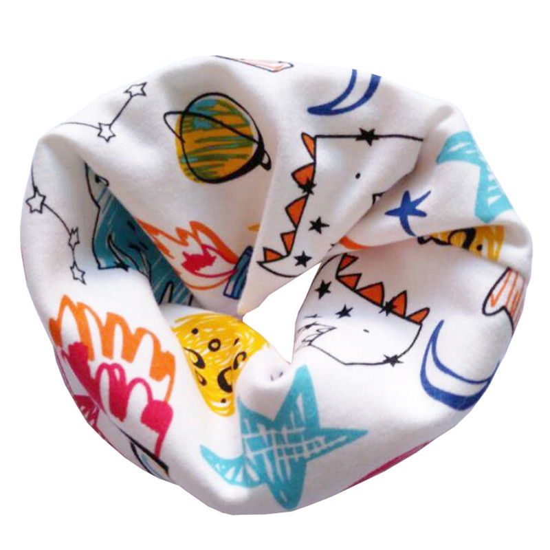 Новинка; Модный хлопковый шарф для маленьких девочек; осенне-зимний шарф для маленьких мальчиков; Детский шарф с круглым вырезом; Детские шарфы; волшебный шейный платок - Цвет: Rocket Graffiti