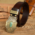 Genuine Leather Chinese Style Buckle Mens Belts Luxury Men Belt TOP Quality Strap Ceinture Homme Designer Belts Jeans MBT0371-1