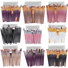 Makeup Brushes With Pocket 20 Pcs 18 Color Professional Soft Eye Cosmetics Beauty Make up Brushes Set Kabuki Kit Tools Maquiagem