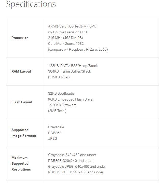 OpenMV3 Cam Cámara Junta CMUCampixy M7 Inteligente Sensor de