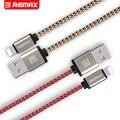 Remax nylon cable del teléfono del moblie para el iphone cargador usb cable de carga del cable de transferencia de la fecha cable de carga rápida 0.2 m 1 m 2 m