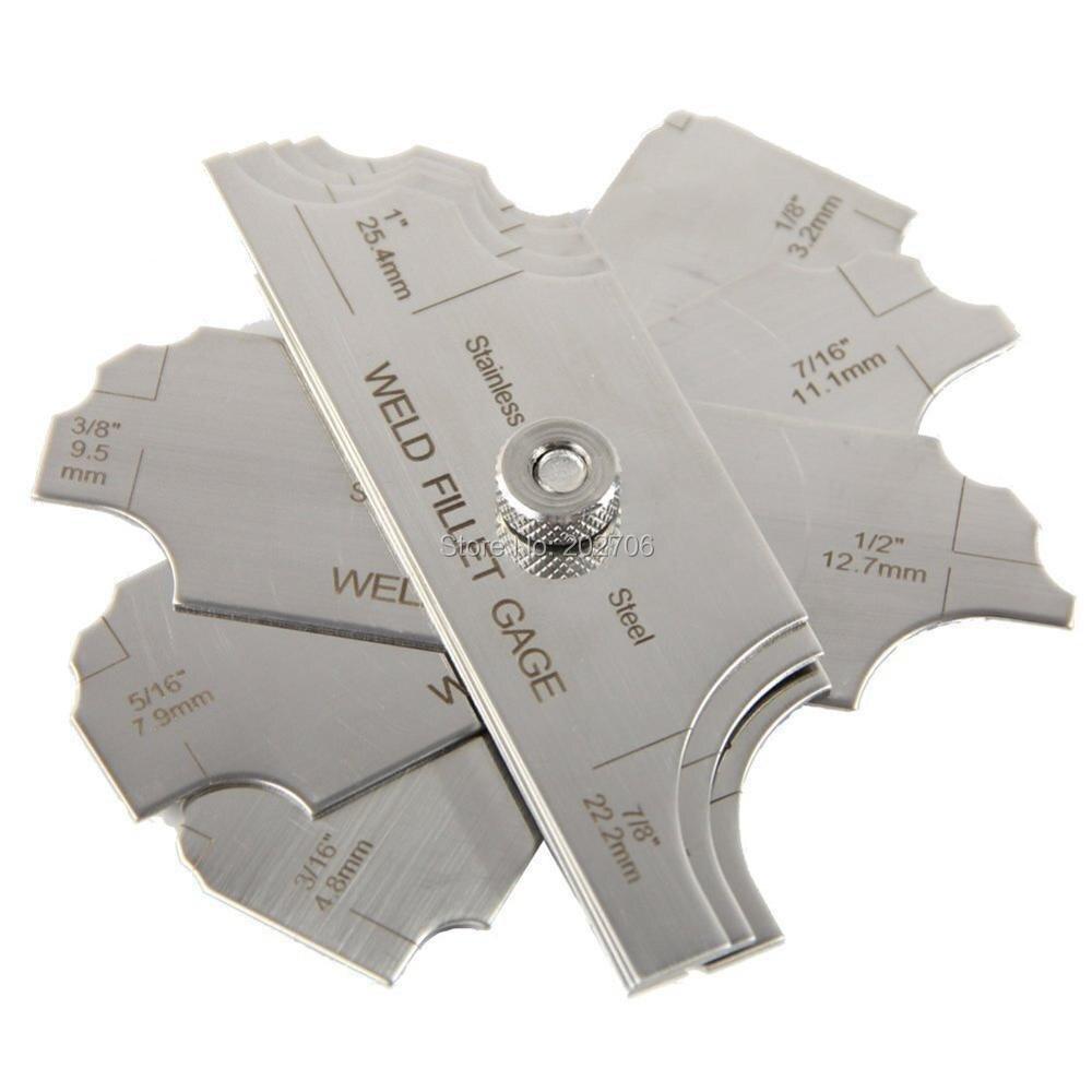 R1-6.5 4pz Raggio Strumento di misura convesso concavo in acciaio inossidabile R0.3-1.5 R7-14.5 R15-25