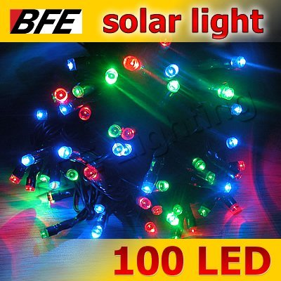 18m 100 LED Mixed Color RGB Solar String Fairy Lights Garden Christmas Summer Party Wedding New Year