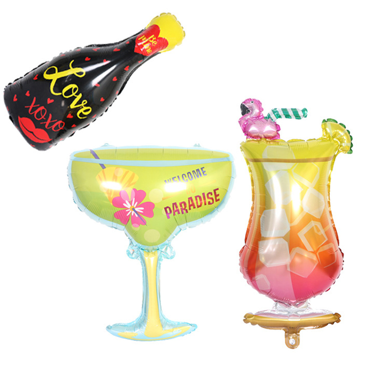 """1pc Party PINK MARTINI Cocktail Drink GLASS IRON ON EMBROIDERED APPLIQUE 2 1//4/""""H"""