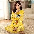 Verano Delgada Llena de Dibujos Animados Conjuntos de Pijamas Para las Mujeres Ropa de Dormir Pijamas para Mujer