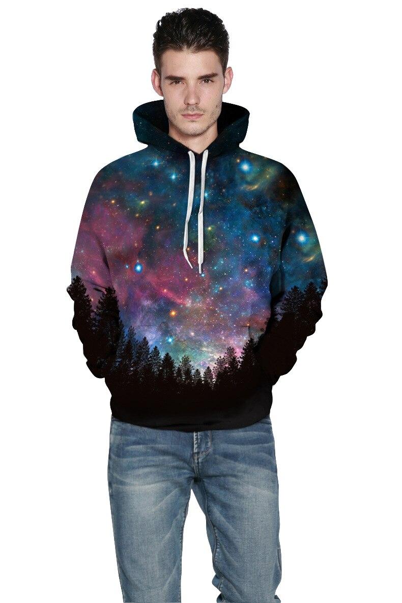 Mr.1991inc 2018 Новый горячий темноте звёздное небо 3d толстовки Для мужчин Толстовка Повседневное с капюшоном Пуловеры для женщин Для мужчин Толс...