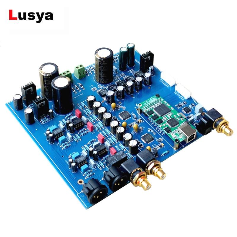 Dual AK4497 DAC decoder amplifier AK4118 32bit 384K DSD DAC board DIY kit without XMOS USB gustard a20h dual ak4497 xmos usb pcm dsd dop dac decoder and class a full balanced amplifier