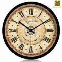 European Wall Clock Wood Retro Mate Quartz Wooden Wall Clock home decor living room Temporizador Retro Vintage Clocks WKP052 1