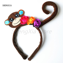 New Halloween animal headband cute monkey tiara hair accessories holiday party adult children role-playing performance props