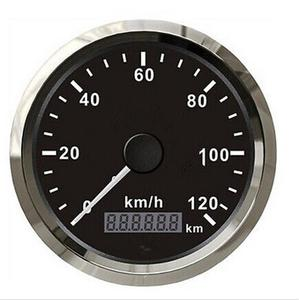 1pc Brand New GPS Speedometers 0-120km/h 12v/24v Speed Chart Fit for Automobile with GPS Antenna Black Color 85mm