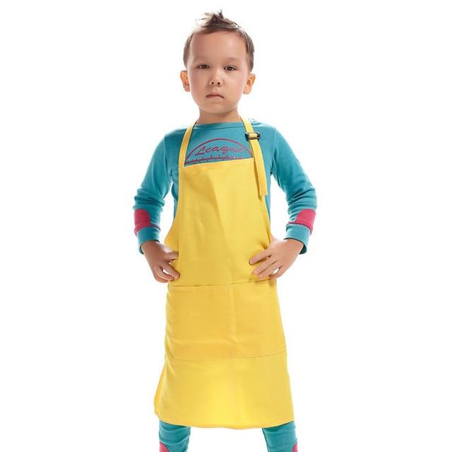 Hot Sale Polyester Kid Apron Children Kitchen Cooking Apron